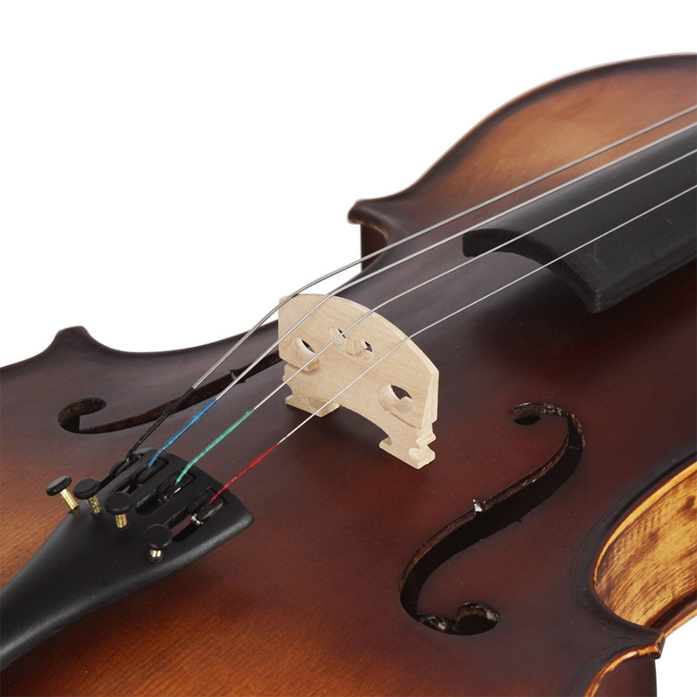 Professional 4/4 Acoustic Viola Spruce Solid Wood Panel Retro Matte Viola Stringed Instrument With Case Bow For Musical Lover enlarge