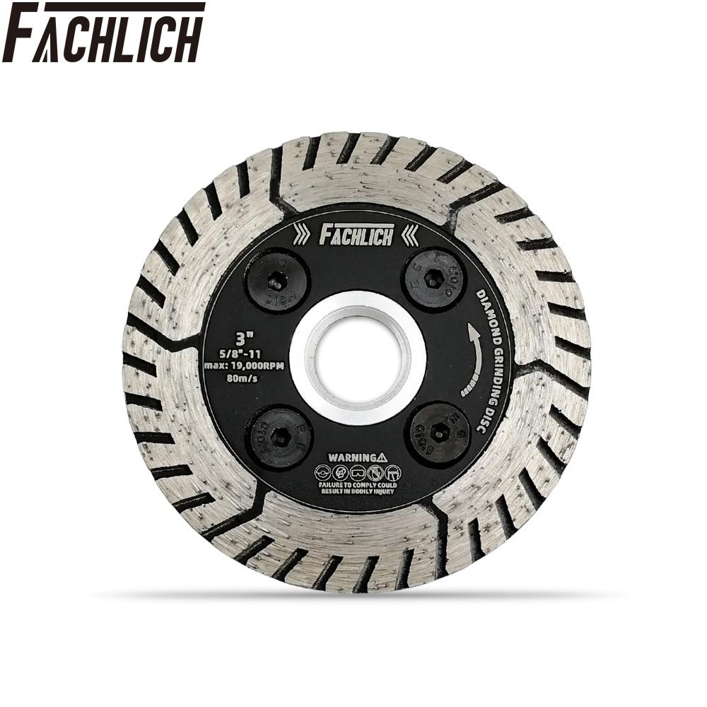 "Fachlich 1pc diâmetro 3 ""4.5"" 5 ""diamante dupla lâmina de serra roda de corte cortador disco moagem afiar granito mármore concreto"