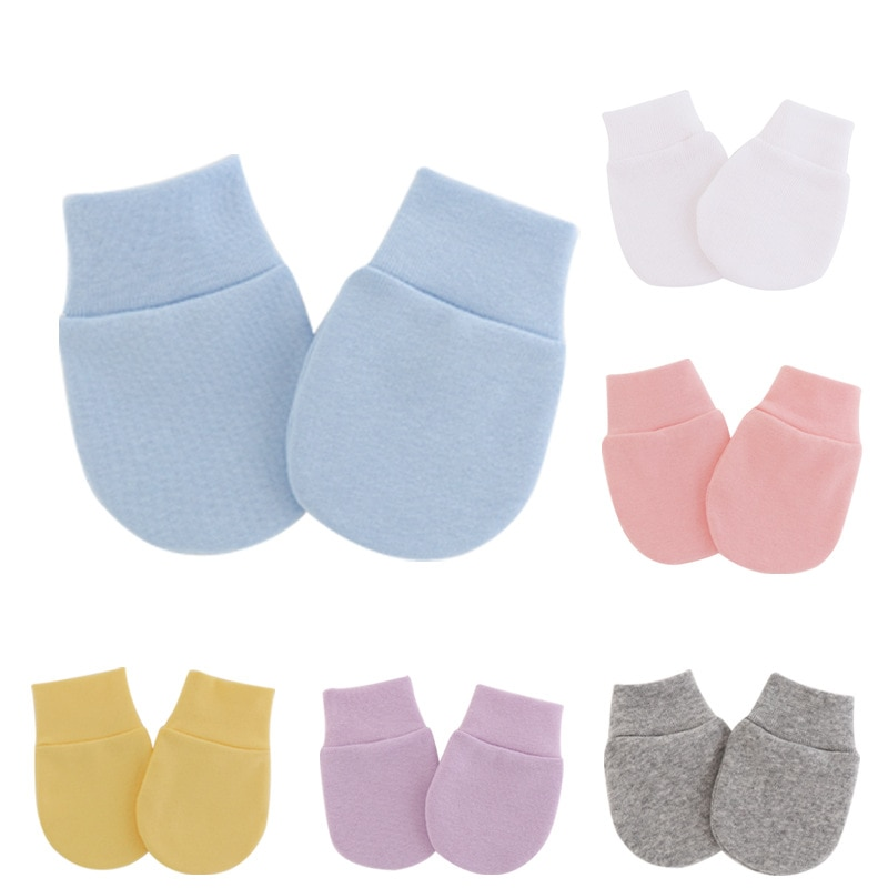 Simple Cute Baby Knitting Mitten Newborn Anti-eat Hand Anti-Grab Face Protect Glove Baby Mitten