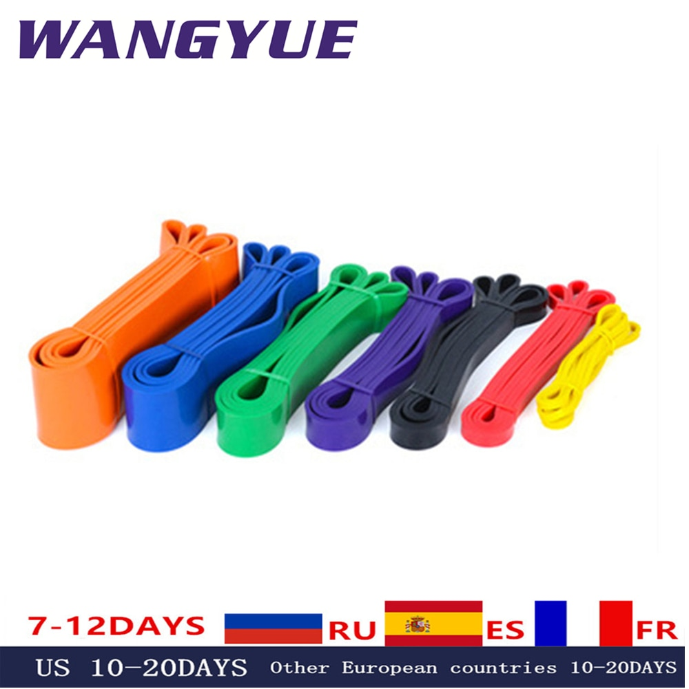 Resistance Bands Exercise Elastic Natural latex Workout Ruber Loop Strength rubber band for Fitness Equipment Training Expander
