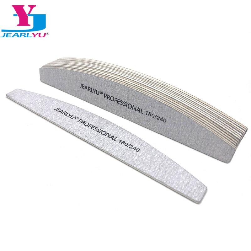 10 unids/lote lija Lima manicura tampón 180/240 fuerte gruesa madera gris bote cuidado de uñas herramienta profesional Lima belleza arte