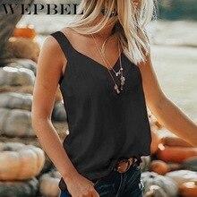 WEPBEL Women Vest Sleeveless Loose Deep V-Neck Backless Beachwear Plus Size Loose Sling Tank Tops Women Casual Summer Vest