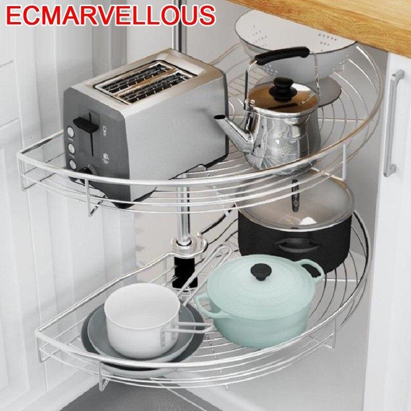 Y Cestas Para Organizar Armario De Cocina Despensa organizador De Cocina De acero inoxidable Cozinha Armario De Cocina cesta De almacenamiento