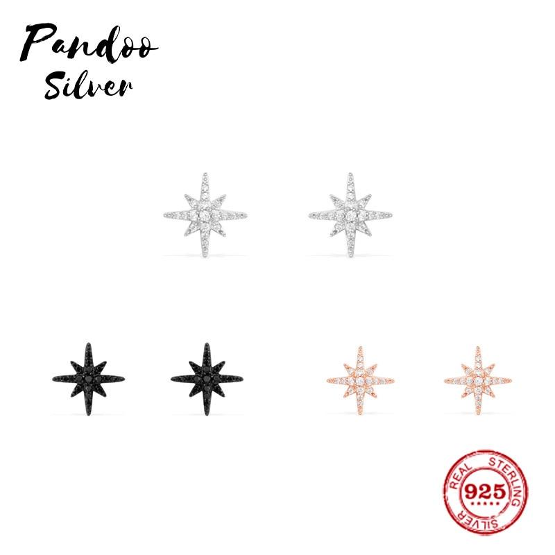 Pandoo, pendientes modernos de plata de ley, copia Original 11, pendientes de tuerca de meteoritos de plata, regalo de joyería de lujo para mujer