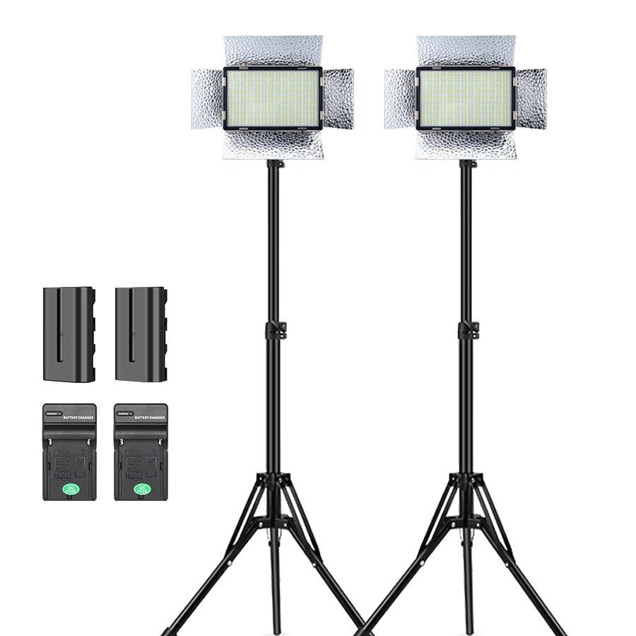 520 حبيبات مصباح مستديرة متفاوتة الأحجام Led أضواء الفيديو الضوئي على الكاميرا بطارية خارجية مصباح ل DSLR vloglight تصوير استوديو الإضاءة