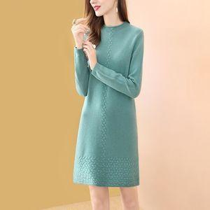 Sweater Dress 2020 Women Fashion Autumn Winter Knitted Pullovers Sweaters Long Sleeve Jumper Pull Femme Vestido De Mulher F93