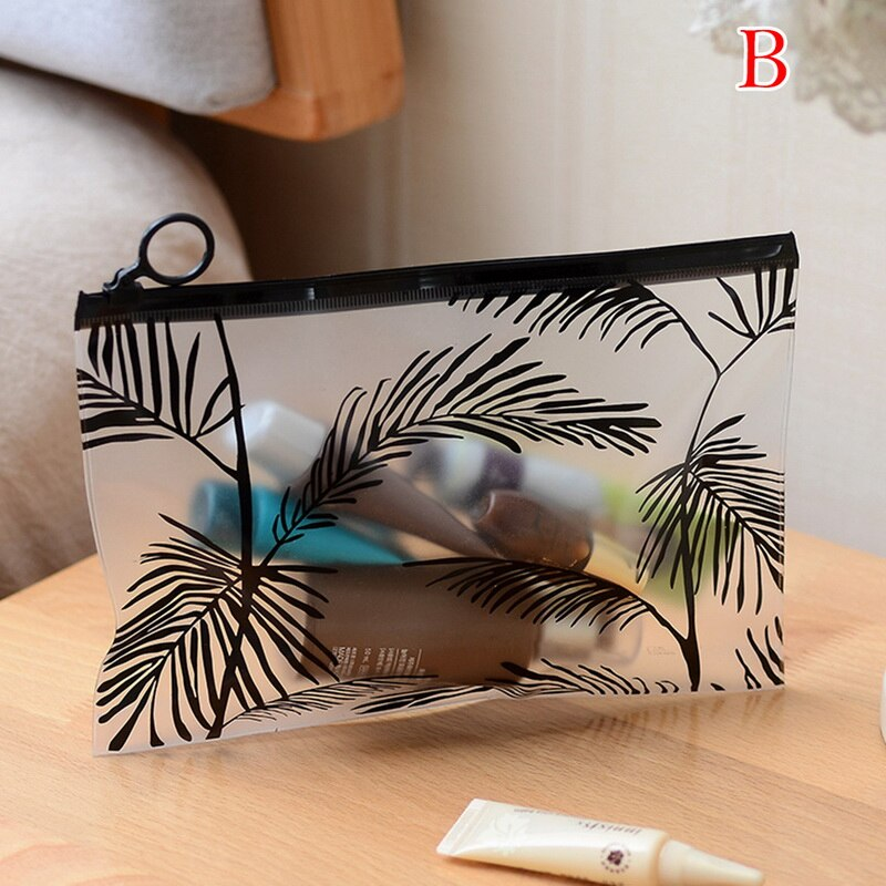 Transparent Small Women Cosmetic Bag Travel Function Makeup Case Zipper Make Up Organizer Storage Po