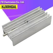 10 pièces 15*10*35mm radiateur en aluminium avec aiguille à Transistor TO-220 hjxrhgal pour Transistors TO220 blanc