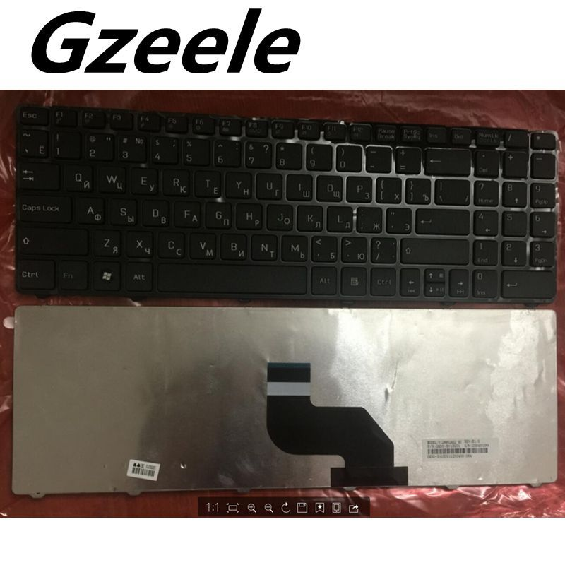 Teclado ruso para MSI CX640 CR640 CR643 CX640DX A6400 RU teclado negro para ordenador portátil V128862AS1