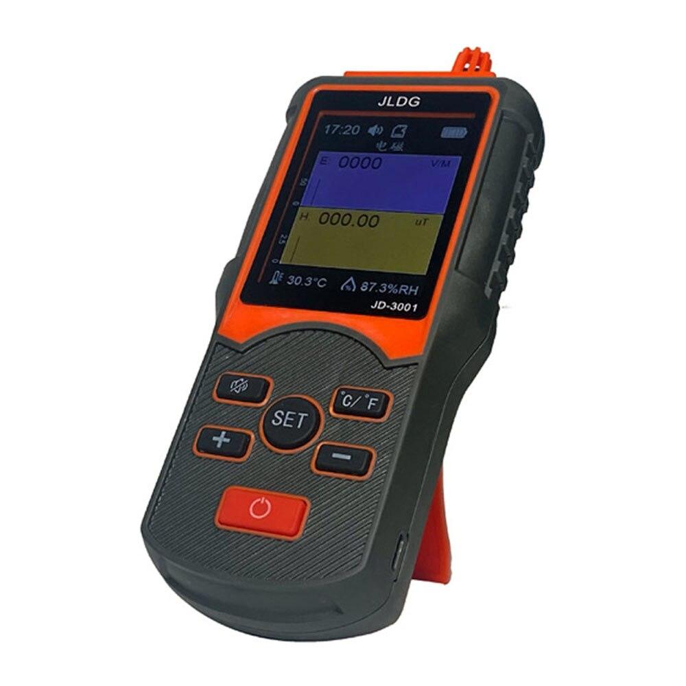 JD-3001 عداد Geiger و كاشف الإشعاع الكهرومغناطيسي درجة الحرارة والرطوبة جهاز القياس مع وظيفة تصدير البيانات