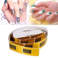 Offre spéciale 100/50pcs Art des ongles dor conseils français sculpture acrylique UV Gel conseils Extension outils pour ongles Extension formes Guide Kit de bricolage
