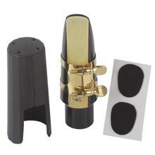 Juego de 5 uds de boquilla para saxofón + Clip + tapa de Clip + junco + cojín Dental para saxofón Alto/Tenor/Soprano Accesorios para Instrumentos Musicales