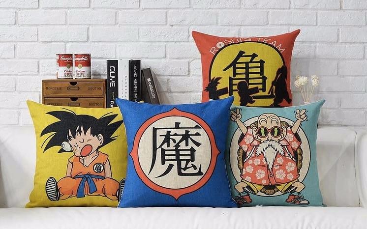 Dragon Ball японская Манга Аниме Испания чехол массажер декоративная винтажная Подушка волоконная Милая наволочка домашний Декор подарок