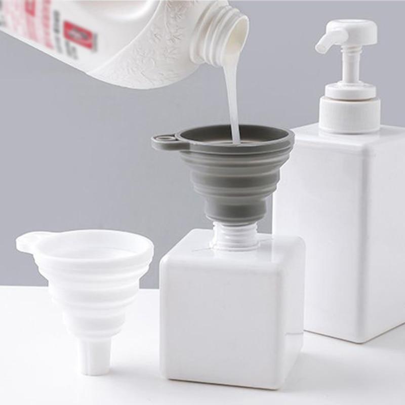 1 Uds Mini embudo práctico de silicona embudo plegable embudo portátil embudo dispensador de aceites líquidos para el hogar herramientas de cocina.