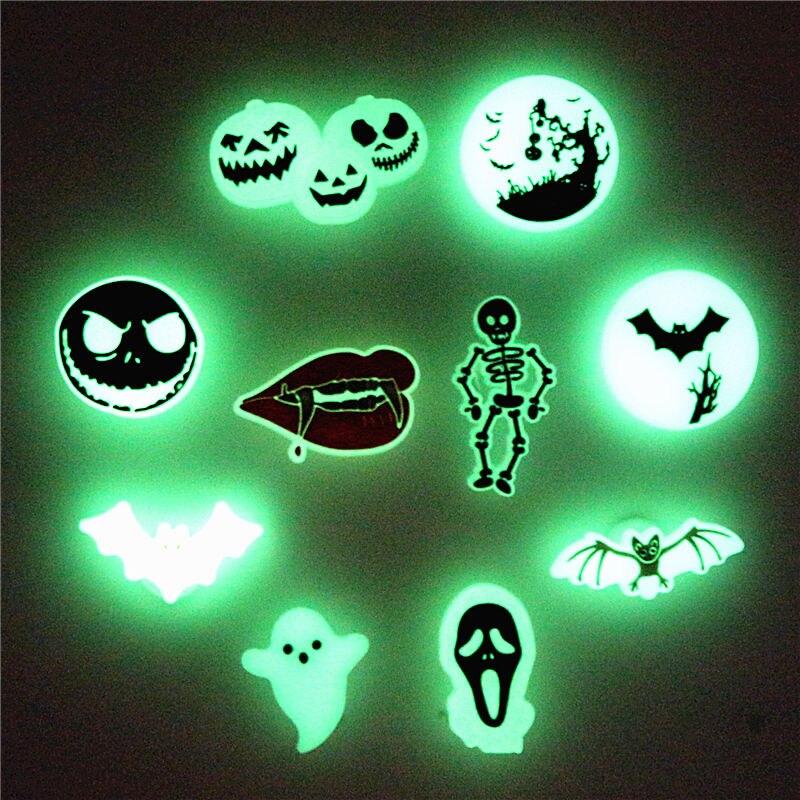 Nightmare Before Christmas Shoe Charms Luminous Vampire Bat Jack Sandals Accessories Ghost Croc Deco