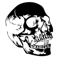 sf3389 skull version 8 vinyl car sticker reflective waterproof cool waterproof decal self adhesive car auto stickers for bumper