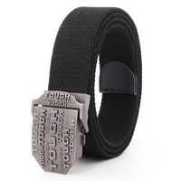 mens belts canvas men high quality tough metal buckle army military training tactical belt new unisex police jeans accessories