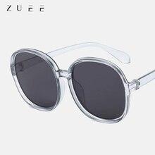 ZUEE Round Oversized Sunglasses Women Fashion Plastic Outdoor Gradient Ladies Sun Glasse Feminino Ga