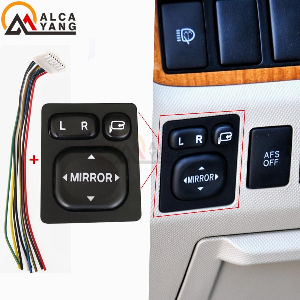 Interruptor de Control de espejo de potencia 84872-52030 84870-34010, botón de espejo retrovisor plegable para Toyota Rav4 Vios Camry Lexus Scion