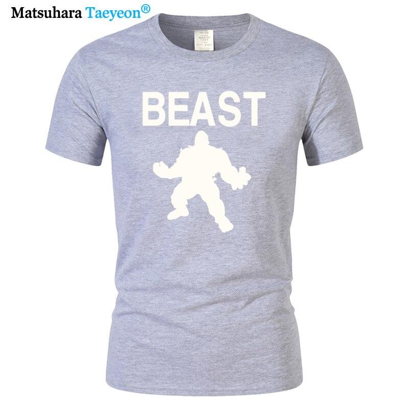 Beast Mode Cross Fit MMA Fitness Mens Men T Shirt T-shirt Short Sleeve Cotton Novelty harajuku Tshirt Tee oversized t shirt