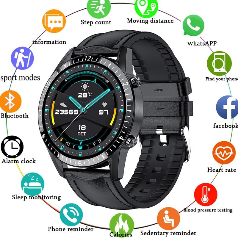 ساعة ذكية للرجال IP67 مقاوم للماء متعددة وضع الرياضة معدل ضربات القلب توقعات الطقس بلوتوث متوافق Smartwatch لهواوي