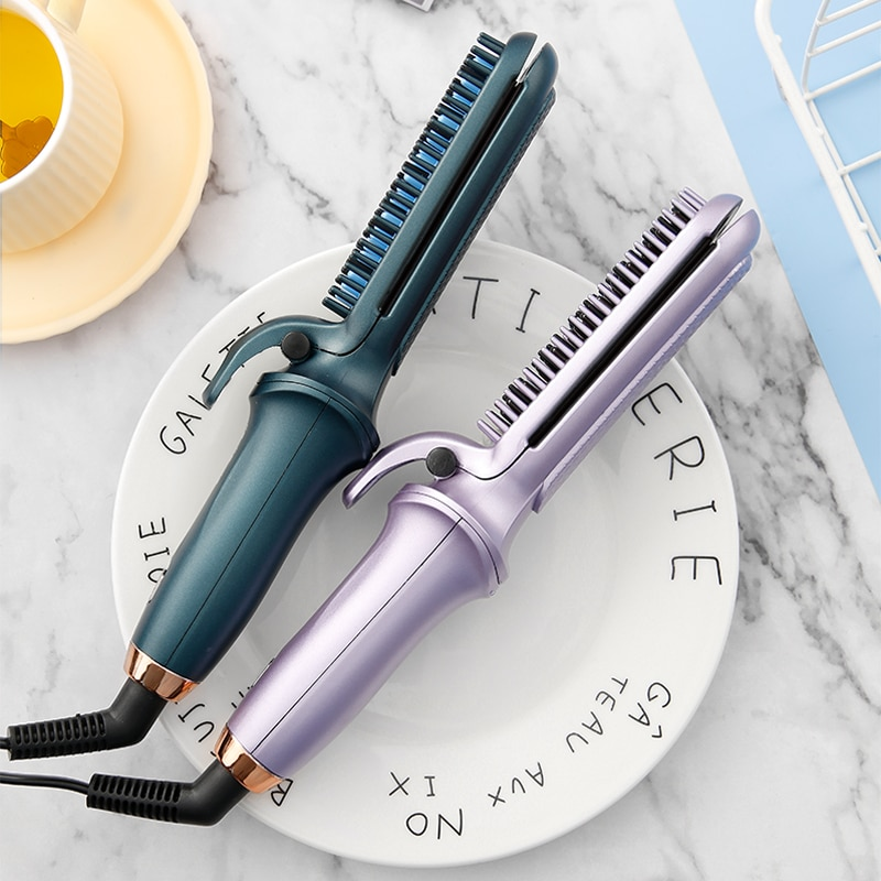 Lazy Multifunctional Hair Straightener Adjustable Curly Hair Straightening Comb Electric Curly Hair
