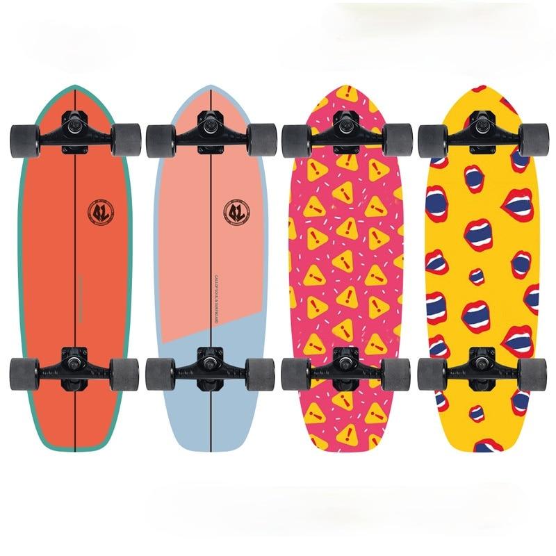 Fashion Professional Skateboard Teenagers Street Brushing Skate Board Land Surfboard Drift Skate Patineta Sport Equipment BI50SB
