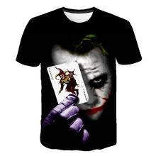 2020 Nieuwe Mannen Vrouwen T-shirt De Clown 3D Gedrukt T-shirt Joker Casual Tshirt Korte Mouwen Joke Jongen Meisje Kinderen tops Cool Tees