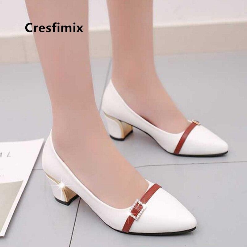 Zapatos de tacón alto sexis para mujer de Cresfimix, tacones rojos informales para boda y club nocturno c2980