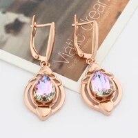 xopas new cute water drop long earrings for women earrings 585 rose gold wedding modern party fashion jewelry korean style