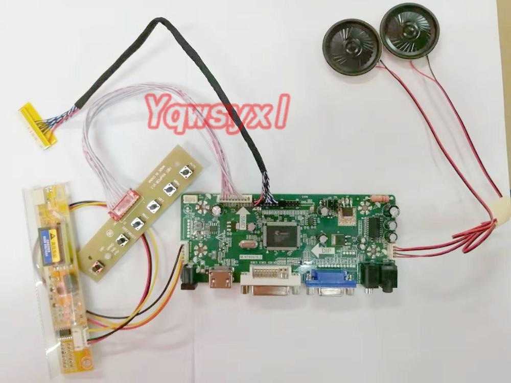 Monitor de placa de Control Yqwsyxl con Kit de altavoces para LTN154AT01-101 HDMI + DVI + VGA LCD controlador de pantalla LED