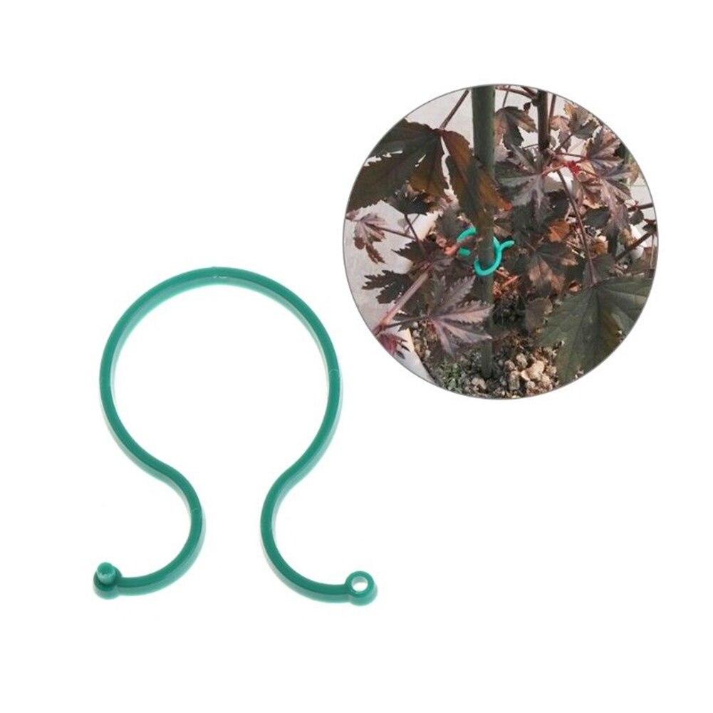 100 Uds herramientas de jardín de frutas de granja de invernadero tomates al aire libre pepinos Clips de planta de hogar soporte para vegetales soporte de vid