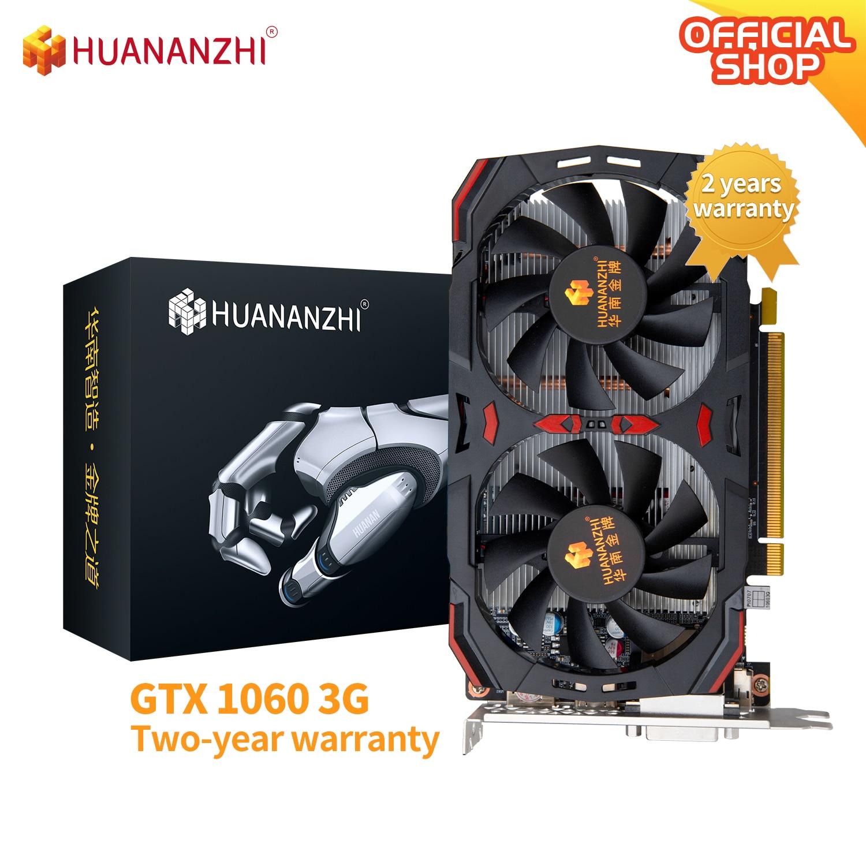 HUANANZHI GTX 650 750 960 970 980 1060 TI 2G 3G 4G Graphics GDDR5 DVI VGA HDMI-Compatibl Video Cards Geforce Game Computer