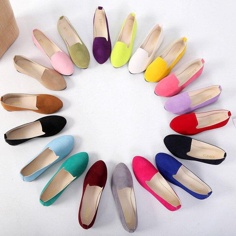 حذا فردي للسيدات ، حذاء مسطح ، أحذية التجارة الخارجية النسائية