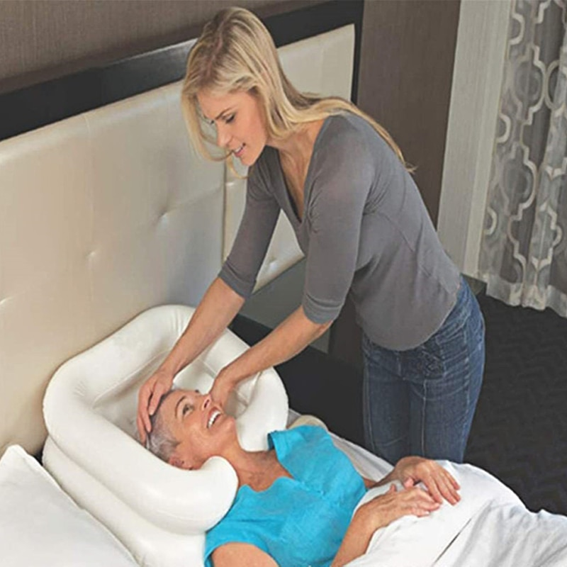 Portable Inflatable Sink Hair Wash Basin PVC Shampoo Basin Foldable Sink For Elderly Disabled Nursing Bed Rest Nursing Aid Sink enlarge