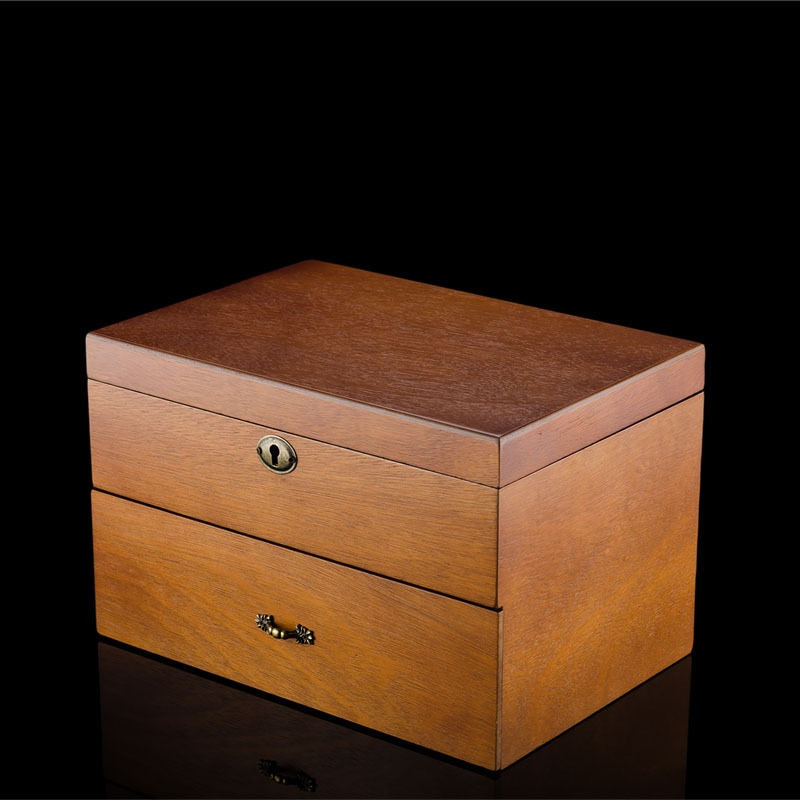 Big Wooden Watch Box Organizer 24 Slots Double Layer Lock Watch Mechanical Jewelry Collection Watch Box Wood Display Box Gift enlarge