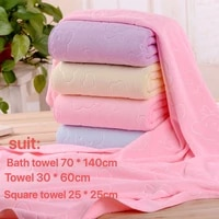4 colors coral fleece absorbent hair swimming face hand bath towel sets microfibre towels bathroom towels microfiber towel set