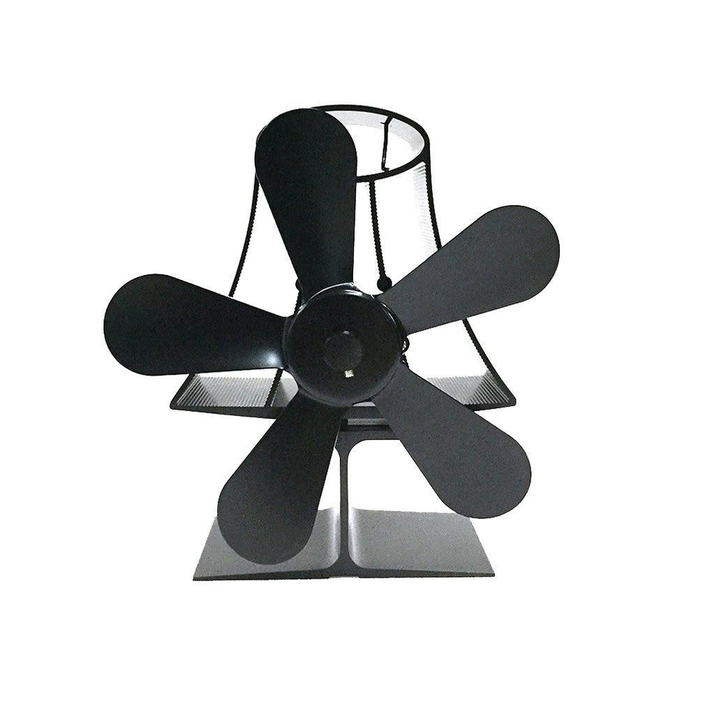 YL-103 Tisch Lampe Thermodynamische Kamin Fan Thermische Power Kamin Fan Eco Freundliche Fünf-blatt Lüfter Lüfter Drehschieber