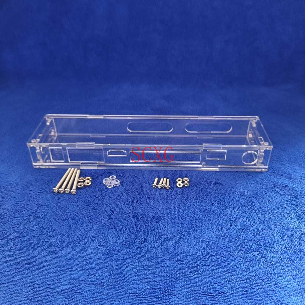 LED/شاشة الكريستال السائل تحكم الاكريليك البلاستيك الشفاف واقية صندوق حقيبة للتخزين صالح tcv التناظرية بطاقة وحدة التحكم اللوحة