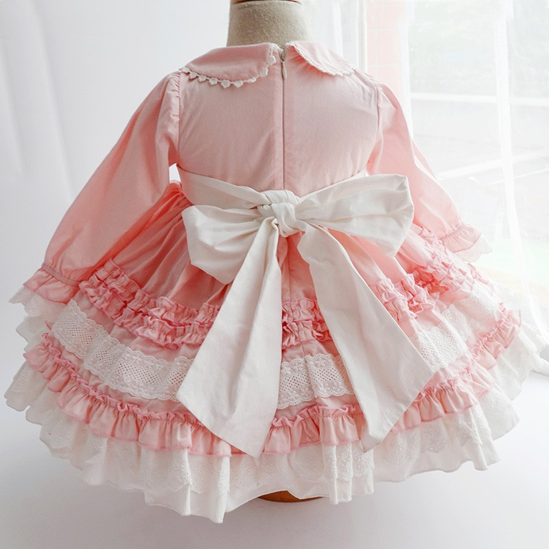 SpringAutumn Children's Clothing Girls' Dress Baby Cotton Lace Lolita Spanish Palace Style Birthday Princess Party Layered Gown enlarge