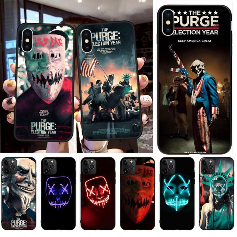 YJZFDYRM la máscara de purga cara sonriente película de lujo funda de teléfono para iPhone 11 pro XS MAX 8 7 6 6S Plus X 5S SE 2020 XR funda