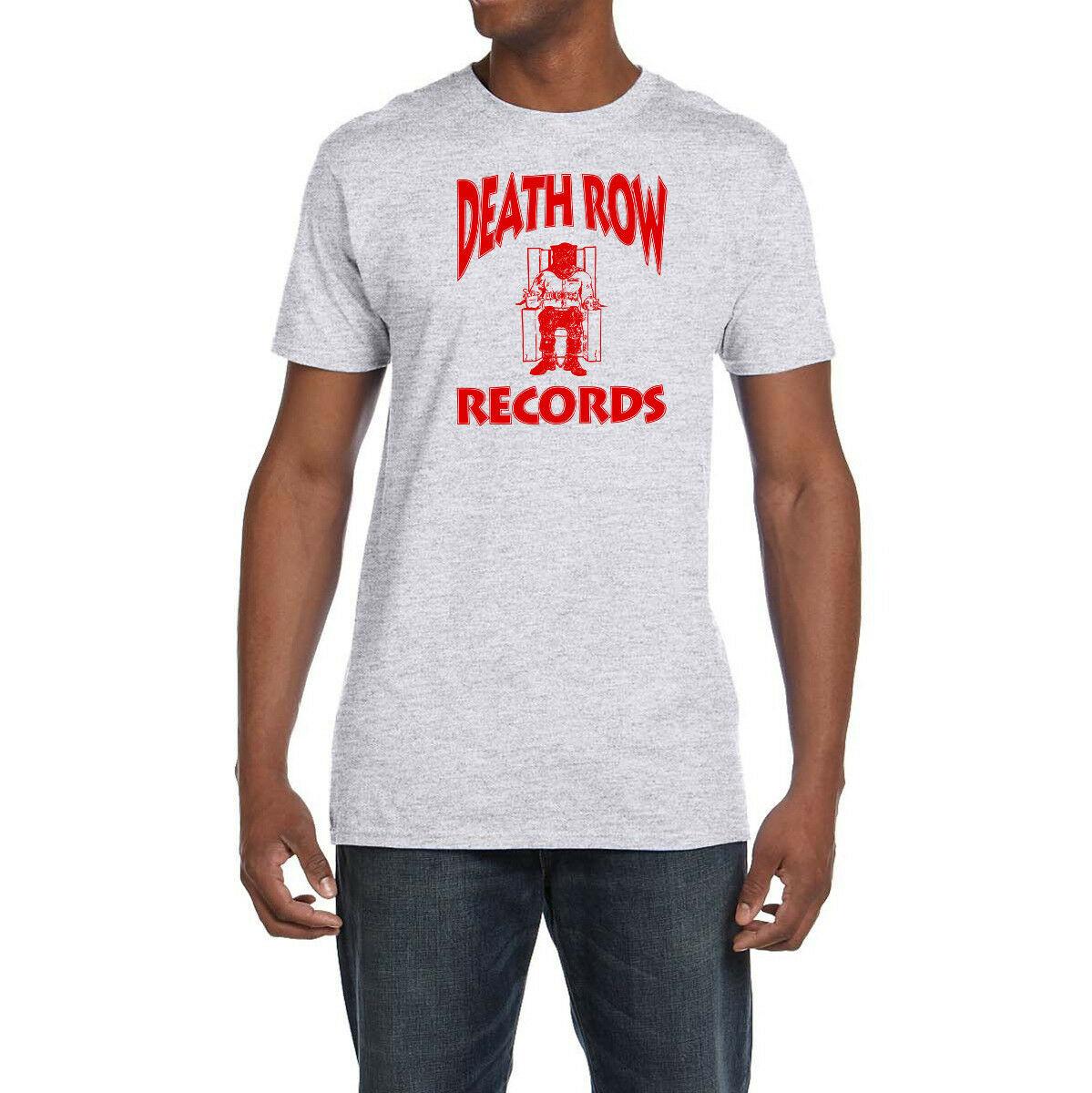 Camiseta retro con Logo rojo de Death Row, Rap, Hip Hop, 2Pac, Compton, All Eyez, nueva