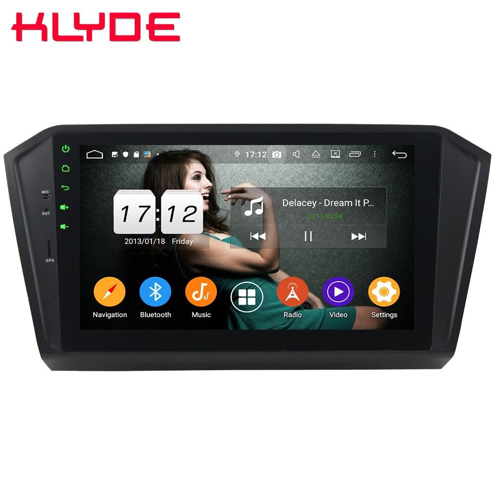 "Klyde 10,1 ""IPS 4G Android 9 Octa Core 4GB RAM 64GB ROM DSP coche DVD reproductor Multimedia para Volkswagen Passat B8 Magotan 2015-2018"