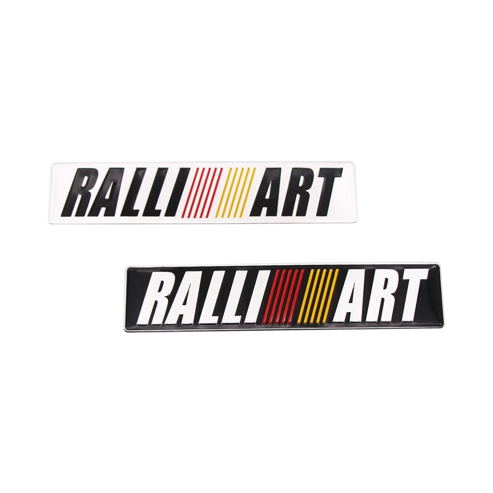 1pcs 3D Metal Car Styling Ralliart Aluminum Emblem Sticker For Mitsubishi Asx Lancer Pajero Outlander L200 Delica Eclipse Galant