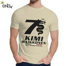 Camiseta Kimi Raikkonen Alfa Romeo Racing de cuello redondo 2019 nueva Camiseta cómoda para hombre S-6XL