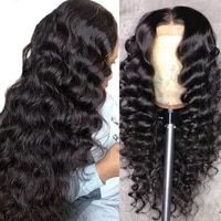 brazilian loose deep wave lace front human hair wigs for black women pre plucked 13x6x1 lace frontal wig 180 density lace front
