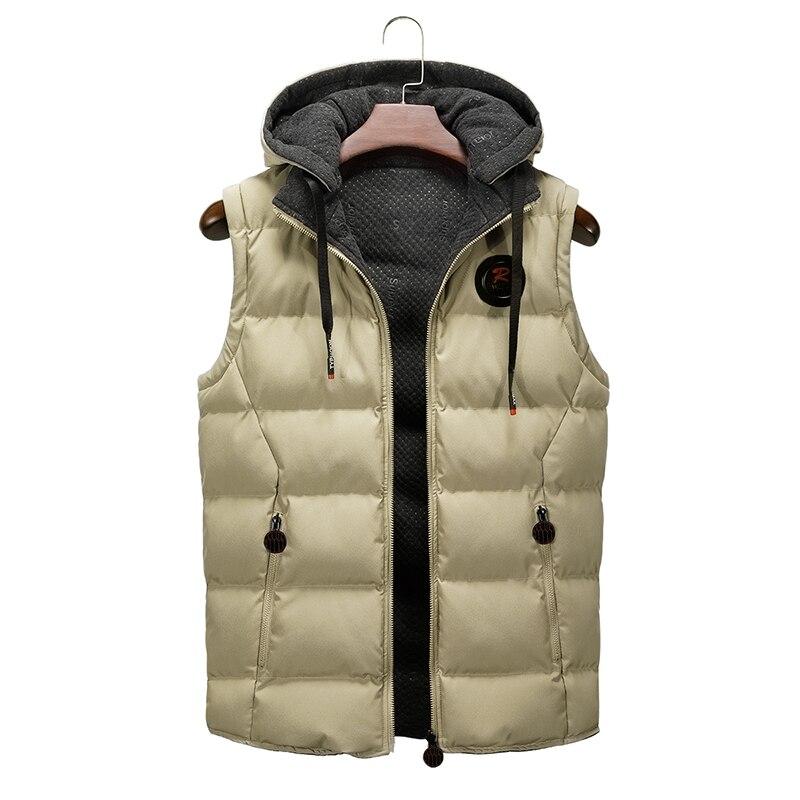 Мужской зимний жилет, зимняя теплая куртка для мужчин, новинка 2021, осенняя плотная Мужская модная повседневная приталенная куртка с капюшон...