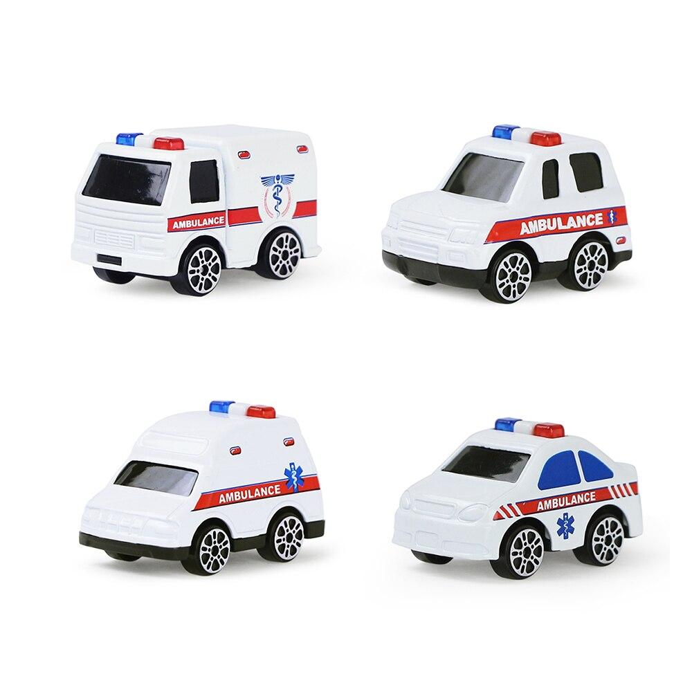 4 pcs set criancas puxar para tras modelo de carro brinquedo engenharia caminhao