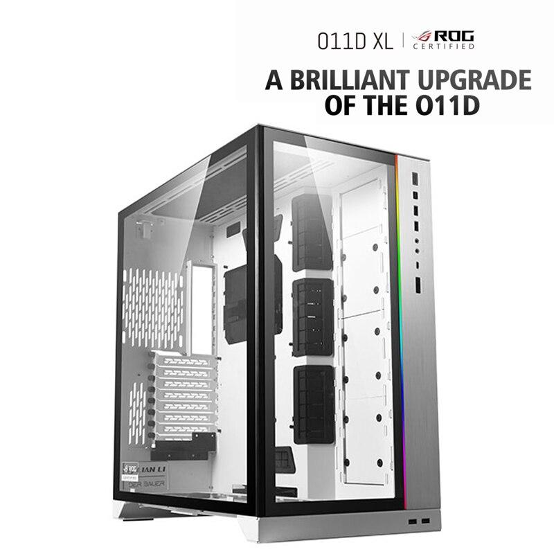 LIANLI-ROG O11D XL حاصلة على شهادة الكمبيوتر وزارة الدفاع ، عرض الجانب الكمبيوتر الألعاب الإسكان ، ARGB مزامنة اللوحة الأمامية
