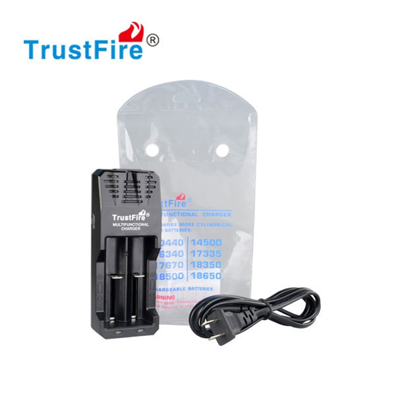 TrustFire TR-015 Li-Ion 2 ranuras cargador de batería Universal para 18650, 18350, 14500, 10440, 16340, 17335, 17670, 18350 baterías de litio